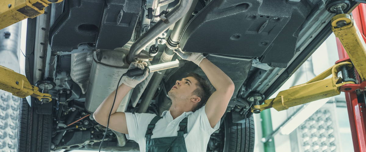 Technician checking vehicle - Car Servicing Whitwick